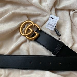-New Gucci Belt Áuthentic Double G Marmot GG Gold
